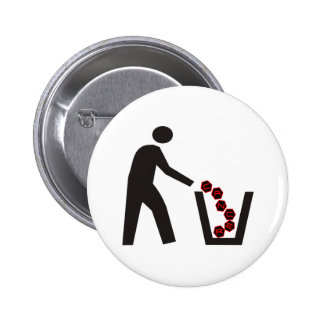 Cáncer Trashing Pin Redondo De 2 Pulgadas