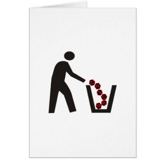 Cáncer Trashing Tarjetas