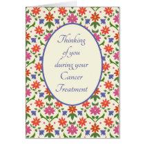 Cancer Treatment Support Card, Rangoli Flowers