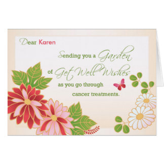 Cancer Treatments Custom Name Get Well Wishes, Flo Card
