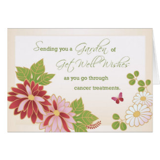 Cancer Treatments Get Well Wishes, Flowers Card