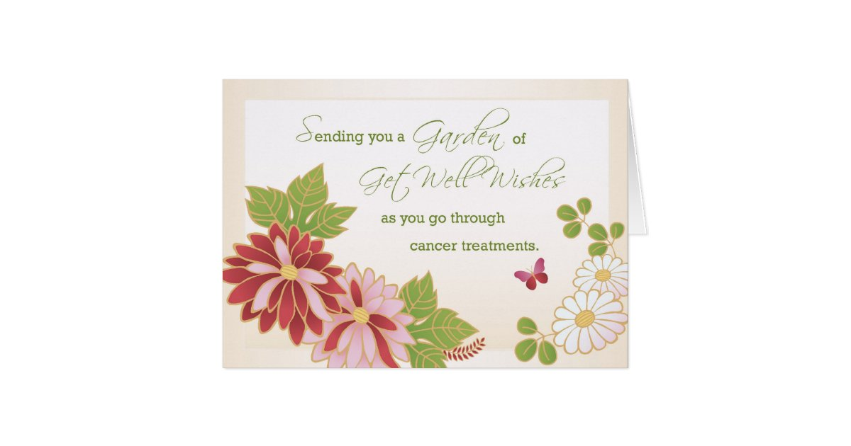 cancer treatments get well wishes flowers card zazzle