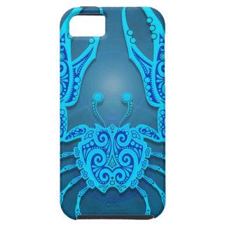 Cáncer tribal azul complejo, firmemente iPhone 5 Case-Mate funda