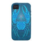 Cáncer tribal azul complejo Case-Mate iPhone 4 carcasa