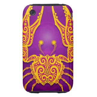 Cáncer tribal púrpura y amarillo complejo, iPhone 3 tough protector