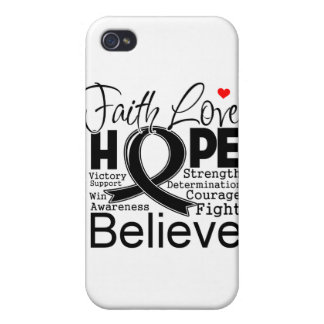 Cancer Typographic Faith Love Hope Covers For iPhone 4