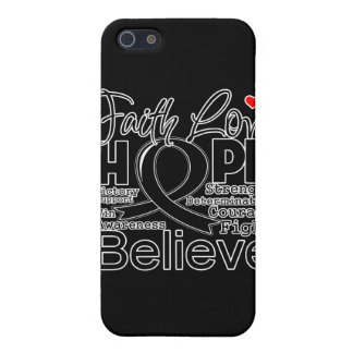 Cancer Typographic Faith Love Hope Cover For iPhone 5