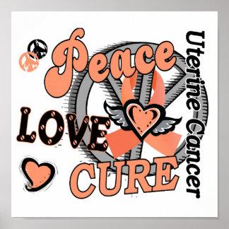 Cáncer uterino de la curación 2 del amor de la paz posters