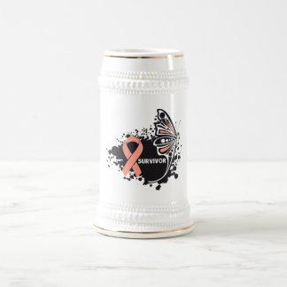 Cáncer uterino de la mariposa abstracta del superv taza de café