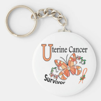 Cáncer uterino del superviviente 6 llavero