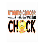Cáncer uterino ensuciado con el polluelo incorrect tarjeta postal
