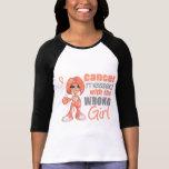 Cáncer uterino ensuciado con Girl.png incorrecto Camisetas