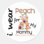 Cáncer uterino llevo el melocotón para mi mamá 43 pegatinas