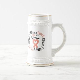 Cáncer uterino llevo la cinta del melocotón para jarra de cerveza