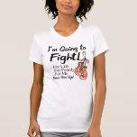 Cáncer uterino voy a luchar camiseta