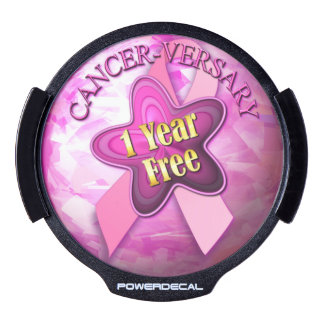Cancer-versary 1 Year Free LED Window Decal