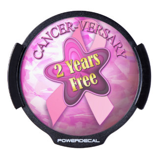 Cancer-versary 2 Year Free LED Car Decal