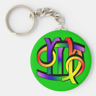 Cancer & Virgo GLBT Basic Round Button Keychain