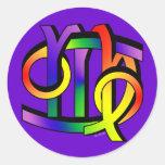 Cancer & Virgo GLBT Round Sticker
