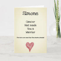 Cancer Warrior Customisable Get Well Card