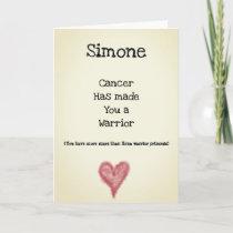 Cancer Warrior Customizable Get Well Card
