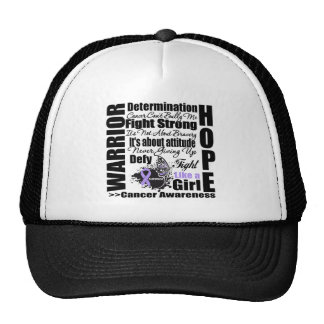 Cancer Warrior Fight Slogans Mesh Hats