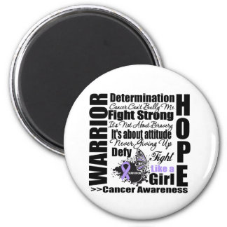 Cancer Warrior Fight Slogans Refrigerator Magnets