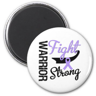 Cancer Warrior Fight Strong 2 Inch Round Magnet