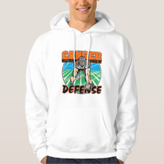 Cancer Will Never Break My Defense - Leukemia Hooded Sweatshirts
