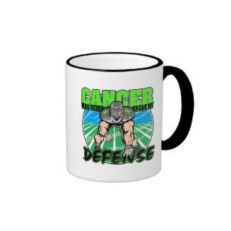 Cancer Will Never Break My Defense - Non-Hodgkin's Ringer Coffee Mug