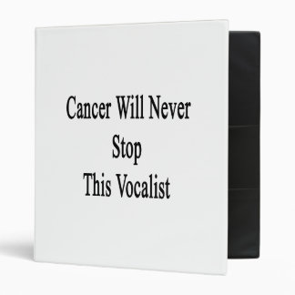 Cancer Will Never Stop This Vocalist 3 Ring Binder