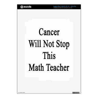 Cancer Will Not Stop This Math Teacher Skins For iPad 3