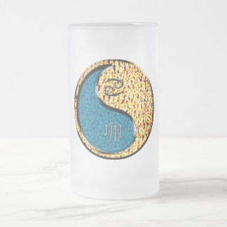 Cancer / Yin Fire Rabbit 16 Oz Frosted Glass Beer Mug