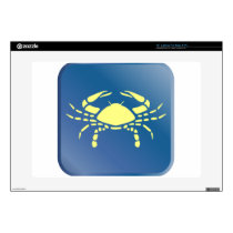 "Cancer Zodiac 15"" Laptop Decal"