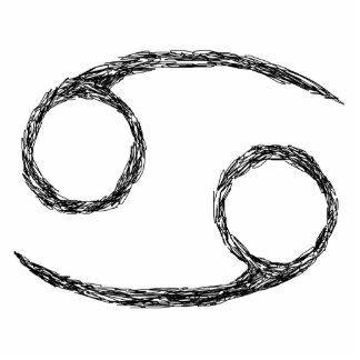 Cancer. Zodiac Astrology Sign. Black. Photo Sculpture Keychain