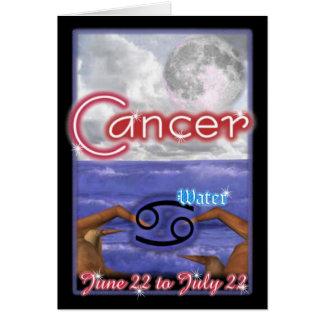 Cancer Zodiac birthday card