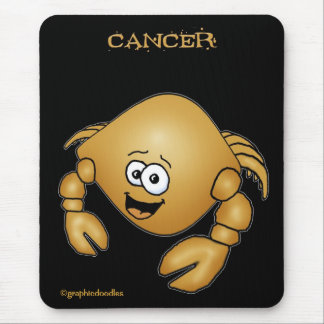 Cancer zodiac cartoon crab mouse pad. mouse pad