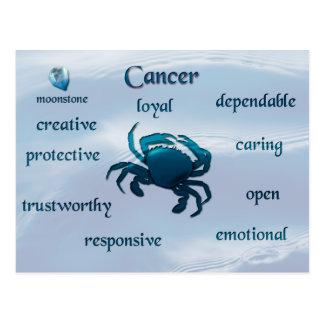 Cancer zodiac characteristics postcard