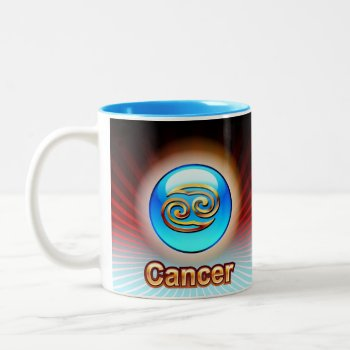 Cancer Zodiac Coffe Mug  Blue Birthday Image by creativeconceptss at Zazzle
