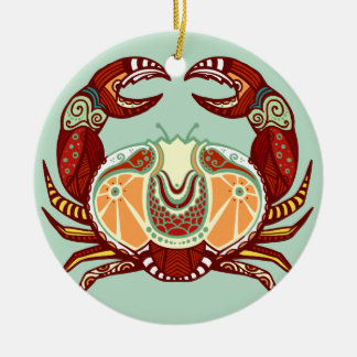 Cancer Zodiac - Crab Ceramic Ornament