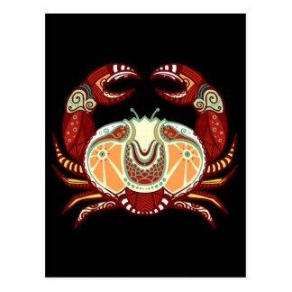 Cancer Zodiac - Crab Postcard