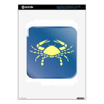 Cancer Zodiac Decal For iPad 3