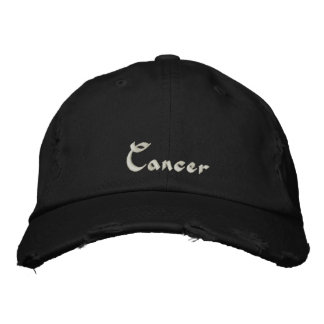 Cancer Zodiac Embroidered Cap Hat Embroidered Baseball Cap