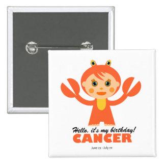 Cancer Zodiac for kids Pinback Button