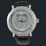 """Cancer Zodiac Gold Abalone on Constellation Wristwatch<br><div class=""""desc"""">Cancer Zodiac Gold Abalone on Constellation</div>"""