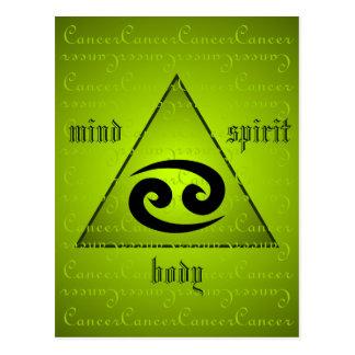 Cancer Zodiac Holistic Triangle Mind Body Spirit Postcard