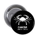 Cancer zodiac sign 2 inch round button