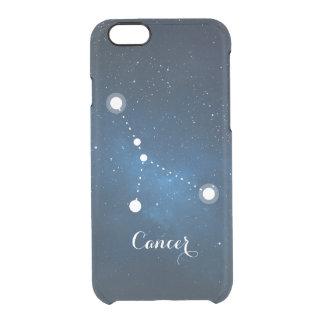 Cancer Zodiac Sign Blue Nebula Clear iPhone 6/6S Case