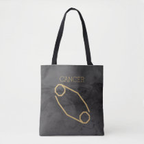 Cancer Zodiac Sign | Custom Background   Text Tote Bag