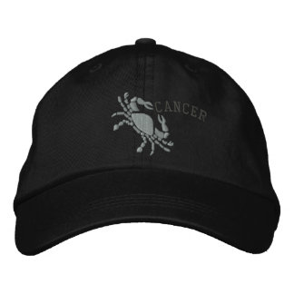 Cancer Zodiac Sign Embroidery June 21 - July 22 Embroidered Hats